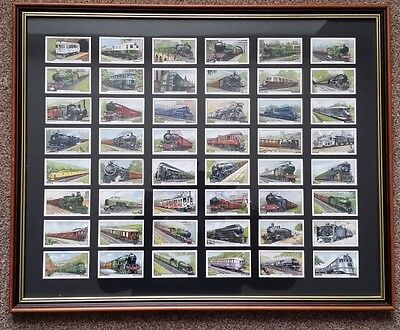 Gallahers Cigarette Cards - 48 Trains of the World Full set, framed and mounted
