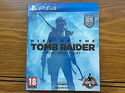 Jeu PS4  RISE OF THE TOMB RAIDER neuf sous blister