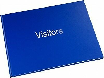 Large Hard Back 720 Entry Visitors Guest Record Book Blue