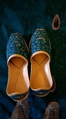Boy's Golden beaded Punjabi shoes/ Jutti / Khussa handcrafted sizes 11,13