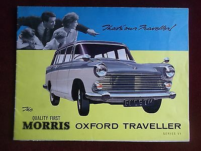 MORRIS OXFORD TRAVELLER Series VI - 1962 Sales Brochure PLUS Road Tests