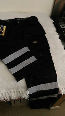 Snickers Craftsmen Trouser 3212 duratwill with reflec stripes + Belt & Kneepads