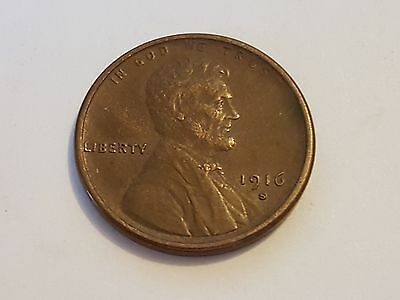 US One Cent Coin - 1916 - Wheat Ears Reverse - (#1052)