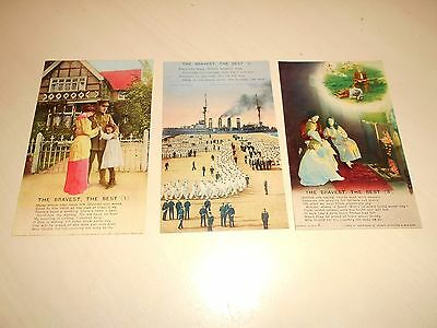 SET OF 3 WW1 BAMFORTH SONG CARD PCs - THE BRAVEST, THE BEST- 4789 - VGC