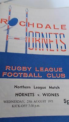 25.8.71 Rochdale Hornets v Widnes programme