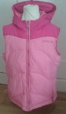 dare2be girls pink gilet age 9-10