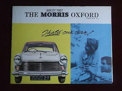 MORRIS OXFORD Series VI - 1964 Sales Brochure