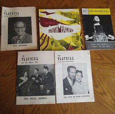 Vintage theater programs and book
