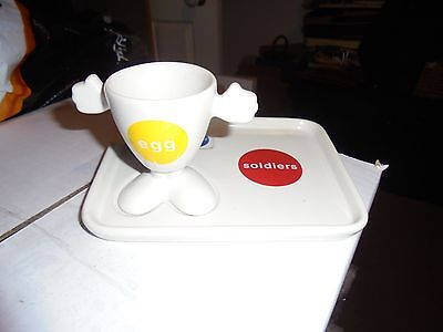 Egg cup and soldier plate set