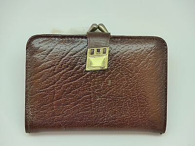 Retro Vintage Brown Leather Purse With Twist-Clasp 50s 60s? 70s?