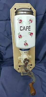 old French I.D.  , wall mounted coffee/ cafe grinder.