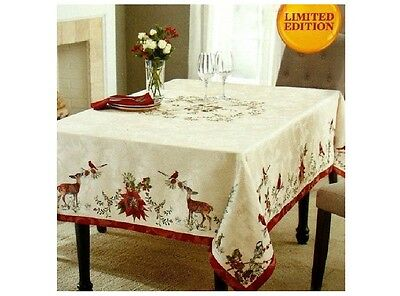 "Better Homes & Gardens Christmas Heritage Tablecloth 60"" x 102"" Rectangle NEW"