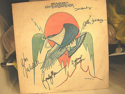 The Eagles Signed Lp On The Border Don Henley Glen Frey All 5 Members
