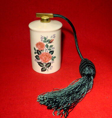 Vintage Royal Bavaria  Perfume Bottle Atomizer Hand Painted Numbered Pink Rose