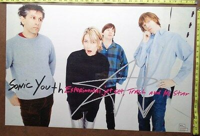 "SONIC YOUTH,23""x35"",POSTER,Very RARE Original record company promo,"