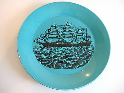 Collectable Black And Blue Plate Featuring The Great Republic Ship
