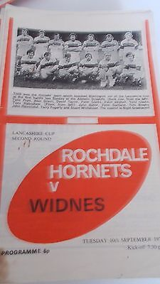 10.9.74 Rochdale Hornets v Widnes programme