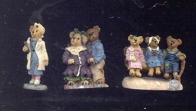 Boyds Bearly Built Villages - Access - Clinic Set Of 3   Mib