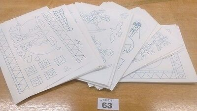 LOT 63 CLEARANCE 95 x Iron On Transfer Design Sheets Embroidery / Pyrography