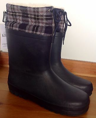 BNWT M&S Unisex Lined Thinsulate Wellies/ Wellington Boots - size adult 7