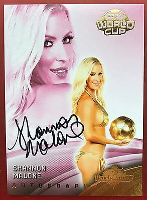 Shannon Malone 2014 Bench Warmer World Cup  Autograph