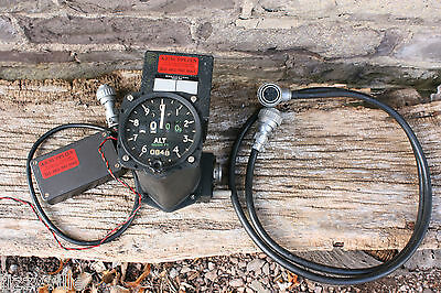 Vintage Aircraft Cockpit Altimeter Raf Military Leads Power Pack Mk 22 6A/5944