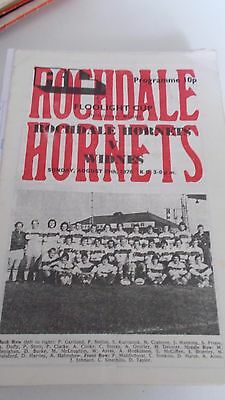 29.8.76 Rochdale Hornets v Widnes programme