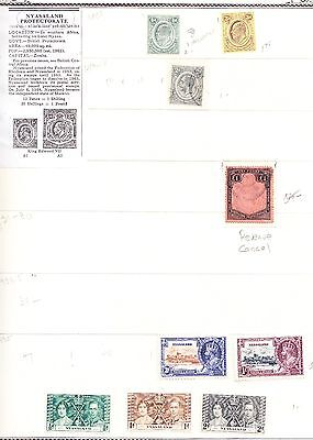 Nyasaland Protectorate Mint/Used (*)/(o) KEVII-KGV-KGVI-QEII   Small Collection