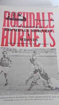 14.11.76 Rochdale Hornets v Widnes programme