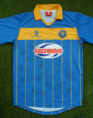 Shrewsbury Shirt Hand Signed by 2016/2017 Squad - 20 Autographs - Brown, Dodds