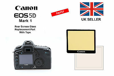 Canon 5D Mark 1 Rear Glass Screen Replacement Part with Tape