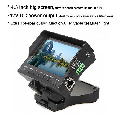 Foldable Wrist Wear 720P 1080P HD-AHD+TVI+CVBS CCTV Camera Monitor Tester 12VOut