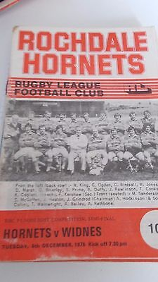 5.12.78 Rochdale Hornets v Widnes programme