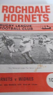 25.3.79 Rochdale Hornets v Widnes programme