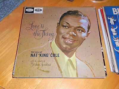 LP/ NAT KING COLE / LOVE IS THE THING (1957 /1970s RE ISSUE UK CAPITOL