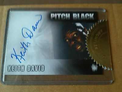 The Chronicles of Riddick Case Topper Autograph Card A7 Keith David Pitch Black