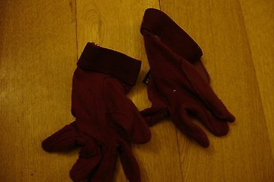 Fouganza Riding Gloves in Burgundy size XS