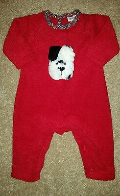 EUC Boys CACHCACH fuzzy puppy outfit  Size 6 months
