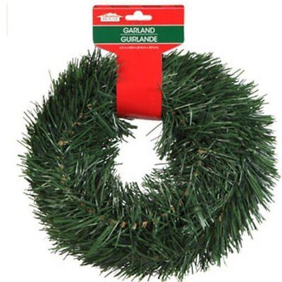 New Christmas House 15 FT Wired Holiday Green Pine Garland Decor Indoor/Outdoor