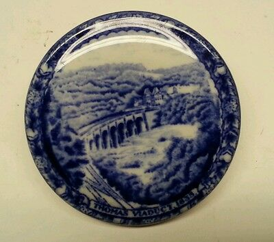B&O Baltimore and Ohio Railroad China Coffee Cup Lid Cover RARE