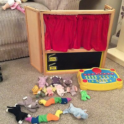 Toy Stage With Curtains Finger Puppets And Special Effects Machine