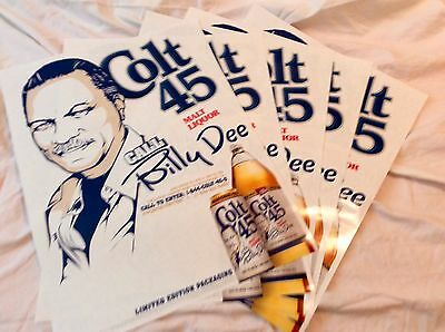 5 Colt 45 Billy Dee Williams posters - new - 2ft