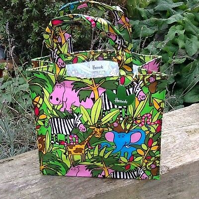 Harrods New Jungle Tote.new With Tags 25 X 25 Cm.