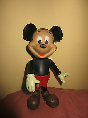 VINTAGE COLLECTABLE WALT DISNEY'S MICKEY MOUSE DOLL POSABLE FIGURE  1970s