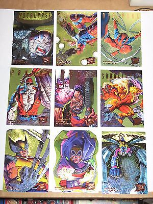 1995 Fleer ULTRA X-Men HUNTERS & STALKERS GOLD INSERT CHASE 9 CARD SET! DEADPOOL