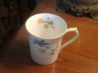 QUEEN'S ROSINA BONE CHINA ENGLAND MUG CUP 8 OZ YELLOW FLOWERS and TRIM