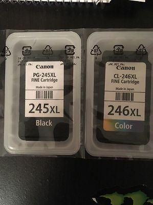 Empty For Refill Only! Genuine Canon Pg-245Xl & Cl-246Xl Ink Cartridges! Empty!