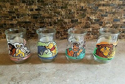 Set of 4 Mixed Lot Of Welch Glasses