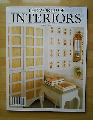 THE WORLD OF INTERIORS July 1993 Magazine ~ Home Decoration Textiles