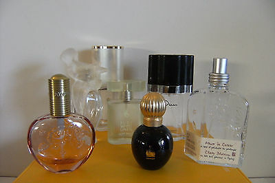 Empty Perfume Bottles Collection - 7 empty mainly French Perfume bottles